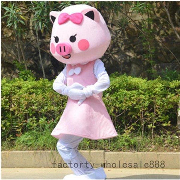 2019 adultes mascotte costume de cochon Halloween de cochon GG costumes costume jeu tenue vestimentaire
