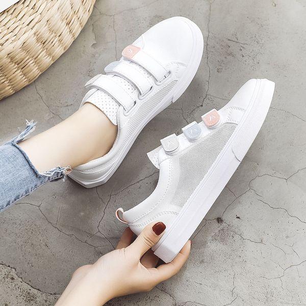 2019 Hot Sale Women Casual Shoes Fashion Breathable Mesh Hollow Flat Shoes Summer Lightweight Women Sneakers Tenis Feminino
