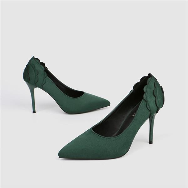 Women Shoes Office Luxury Designer Style Patent Leather High Heels Unique Letters Simple Low Shoes Dress Wedding Shoes 34-41