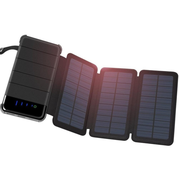 Solar Power Bank External Battery 10000mah Power Bank 2 USB LCD Powerbank Portable Mobile Phone Charger External Battery Pack