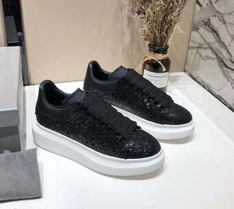 Yeni Womens 039 Moda Beyaz Deri Platformu gündelik ayakkabı Düz Günlük Ayakkabılar Lady Siyah Kırmızı Pembe Sneakers gh907