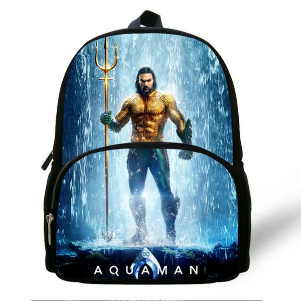 12-inch Hot Sale Superhero Bag For Baby Character Aquaman Backpack For Preschool Boys Girls Kindergarten Bags