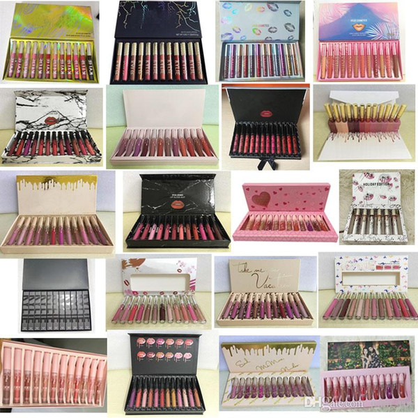 best selling In stock ! New Makeup Lipstick High-quality 12 Popular color =1set Matte Lip Gloss DHL free shipping