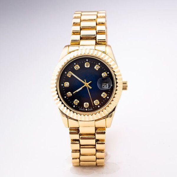 High-end brand men and women fashion calendar display watch 2019 Geneva designer dress watch luxury brand silver diamond British watch gift
