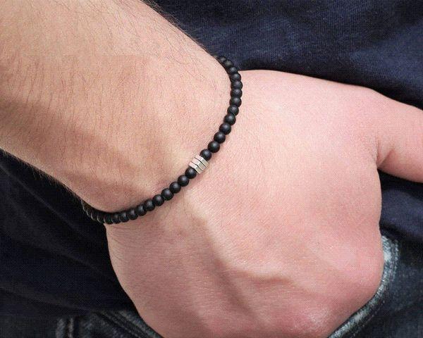 2018 Fashion New Simple Lucky Charm Handmade Bracelets For Men Stone Beads Bracelet Style Jewelry Gift Pulsera Hombre