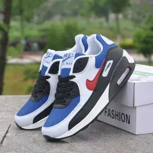 best selling Max90 air cushion sports female lace casual wild running shoes men autumn and winter couple travel shoes mm