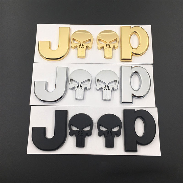 Replaced Car Auto 3D Zinc Alloy GHOST JEEP Emblem Badge Sticker For JEEP CARS
