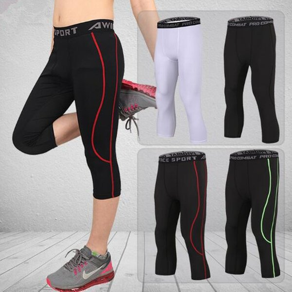best selling Kids Clothing Men Combat Athletic Skinny Compression Basketball Training Legging Run Gym Track Children Sport Tight Pants Fitness XZT079