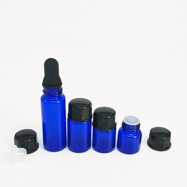 Envase de vidrio de aceite de fumar con tapa negra Droper pequeño frasco de vidrio para aceite grueso de cera traje de viaje portátil envío gratis