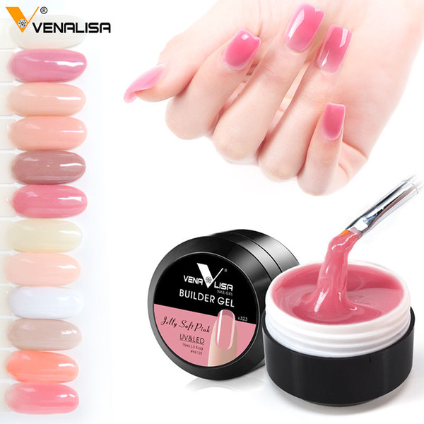 top popular Nail Gel CANNI Nail Extension Gels Thick Builder Gel Natural Camouflage UV Gel 15ml Manicure Led 2021
