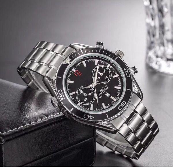 Hot aço inoxidável Top luxo Moda Mens Relógios De Pulso designer popular Relógio De Quartzo Esportes Militares mens Relógios mujer