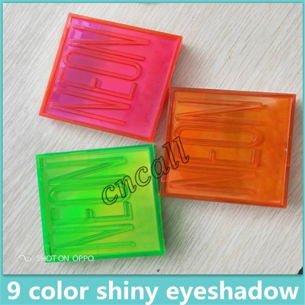 Newest Beauty Brand NEON 9 Colors Shimmer Eyeshadow Make up Eyeshadow with 3 Styles and high quality