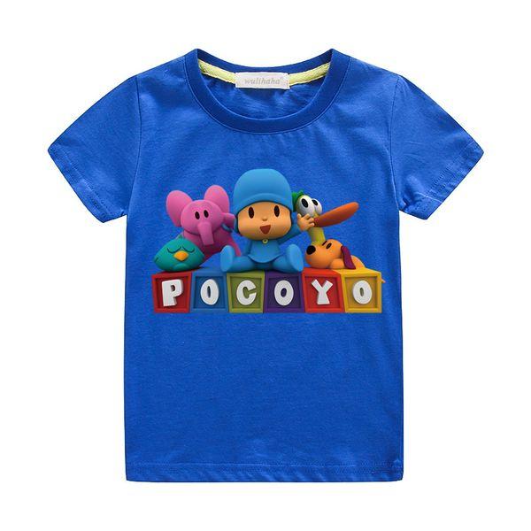 I bambini del fumetto Pocoyo Estate Stampa magliette delle ragazze dei ragazzi svegli di 3D divertenti magliette Costume Bambino Casual Tee Top abbigliamento per bambino