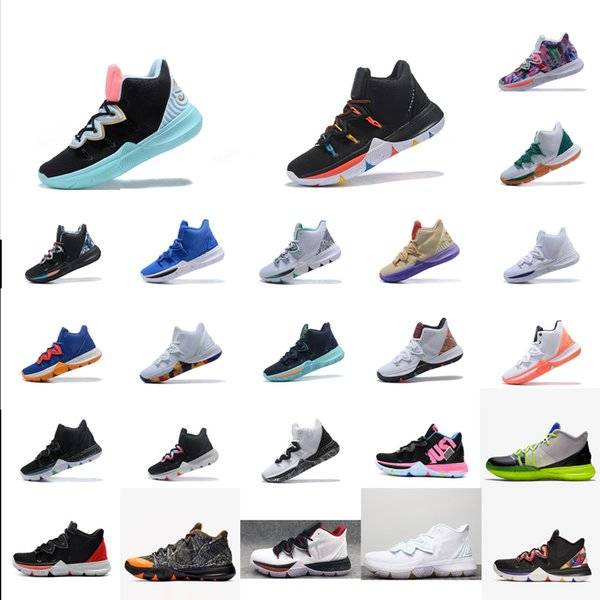 Cheap womens kyrie 5 basketball shoes Dream Blacks Green Blue Red boys girls youth kids kyries irving 4 sports sneakers tennis with box 7 12