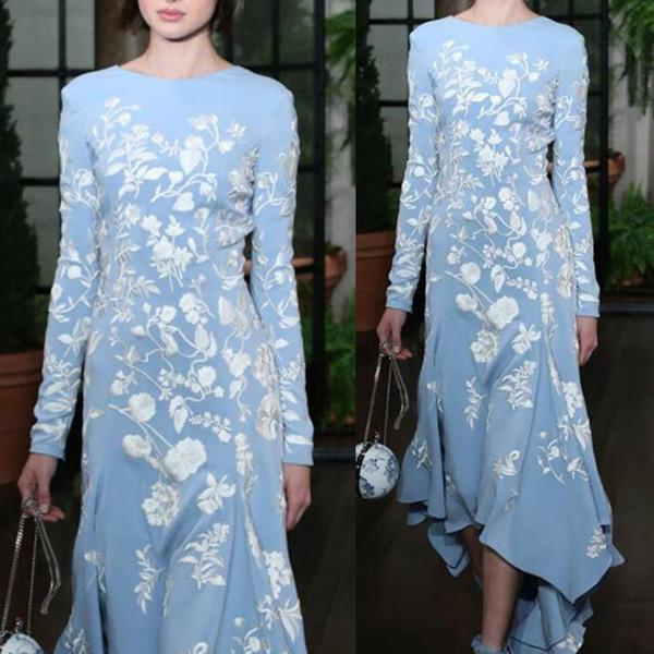 Femmes Grande Taille Vintage Manches Longues Floral Loose Party Long Maxi Dress Plus Size Ladies Robes De Soirée Élégant robes 2019