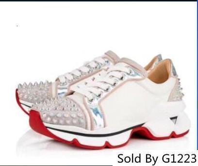 Krystal Spike Donna Flache Neopren Turnschuhe Designer Luxus Herren Bottoms Damen Niet Stachelige Socke Junior Spikes Rote Sohle Schuhe