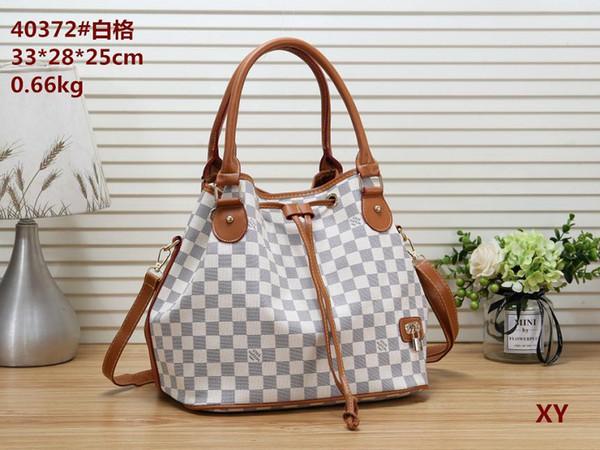 Yüksek Omuz Çantası Çanta Debriyaj Çanta Yeni Hit Renk Ling Izgara Messenger Çanta Basit Zincir Paketi Çapraz Vücut Bags13