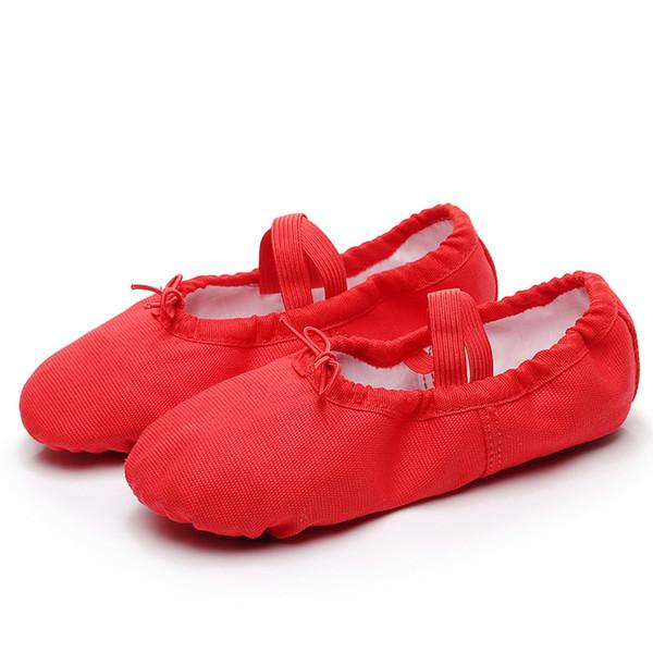 2019 Yoga Flats Arts Examen Ballet Danse Chaussures École Filles Femmes Dames Femmes Enfants Enfants Performance Grande Taille22-44 Doux Sneakers