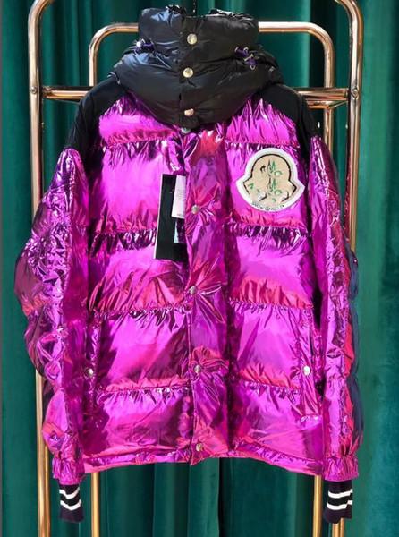 Acheter 2019 Femmes Designer Vestes Femme Mince Femmes Hiver Manteaux Haute Qualité Brillant Broderie Doudoune Femme Vers Le Bas Veste Taille S 2XL De