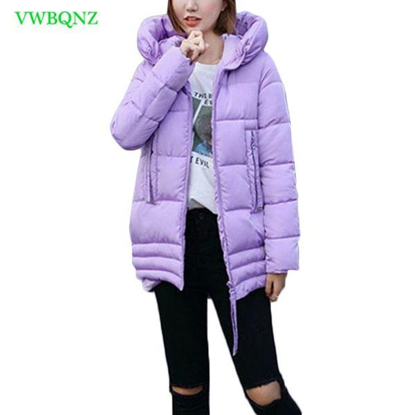 Piumino donna imbottito in cotone Parka Giacche invernali Piumino donna caldo in cotone Cappotto Cappotto lungo in cotone con cappuccio moda A961MX190907