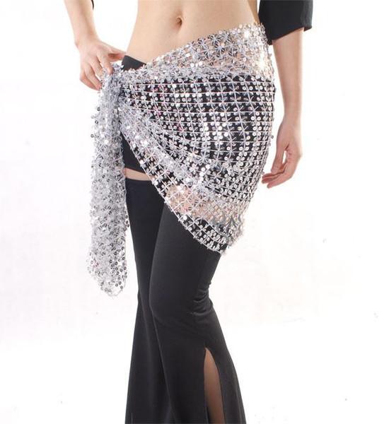 Livraison Gratuite Pas Cher Costume De Danse Du Ventre Accessoire Sequin Hip Écharpe Ceinture Taille Chaîne Wrap Jupe Pourpre Rose Bleu Noir Rouge