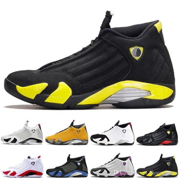 14 14s Thunder Bianco Nero Mens Basketball scarpe 14s XIV Candy Cane Nero Toe DMP Last Shot Designer Uomini Sport Sneakers Trainers rosso