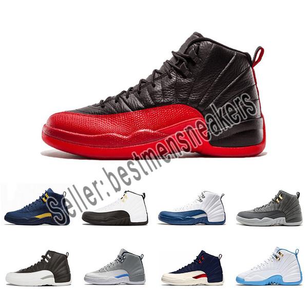 prix compétitif 8232e 47815 Acheter 2019 Designer Nike Michael Jordan Shoes XII 12 Hommes Chaussures De  Basket Ball Wntr PRM CNY Gymnase Rouge Playoff The Master 12s Designer ...