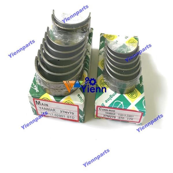 3D70E crankshaft main connecting rod bearing set For Komatsu tractor loader forklift truck diesel engine parts