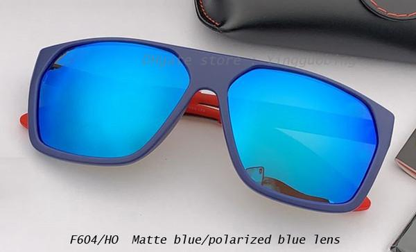 lente de espejo azul mate / azul polarizado