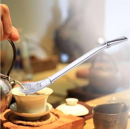 Nice Tea Stainless Steel Drinking Yerba Mate Straw Gourd Bombilla Filter Spoon
