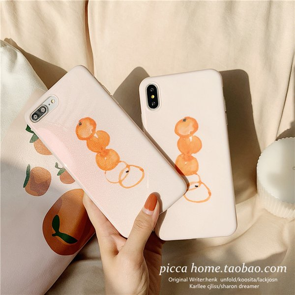 Oil Painting Sunshine Orange INS Style Lovers Anti-fall And Anti-scratch Mobile Phone Case for IPHONE 6 7 8PLUS XS XR XS MAX