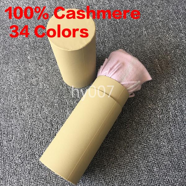 Winter women men 100 ca hmere carf cla ic check carf pa hmina de igner hawl carve with roll tube box 34 color, Black;white