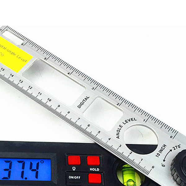 top popular Freeshipping Digital Angle Finder 0-270 Degree 9V battery Gauge Protractor Ruler Miltre Angle Finder With Dual Spirit Level Inclinometer 2020