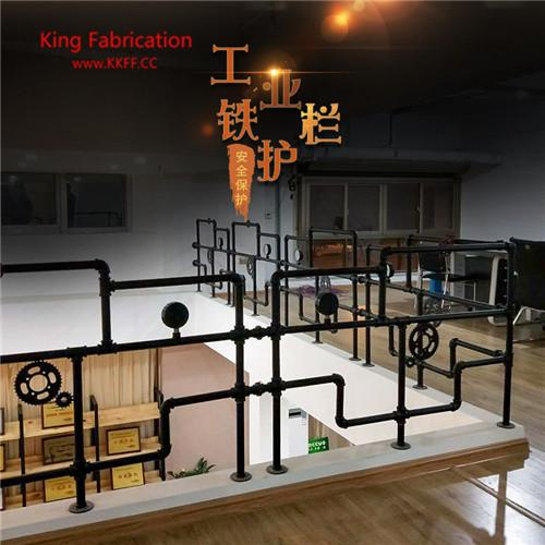 Water pipe stairs fence railings bar railing balcony fence window partition