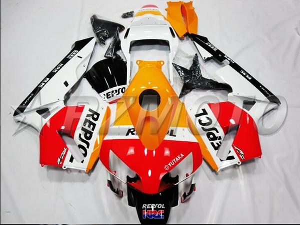 New Injection Mold Motorcycle ABS Full Fairings kit Fit for HONDA CBR600RR F5 2003 2004 03 04 600RR CBR600 Hot sales orange white