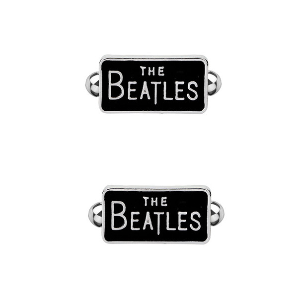 Superhero Style The Beatles French Cufflinks For Mens Shirt Brand Cuff Buttons Vintage Cuff Links