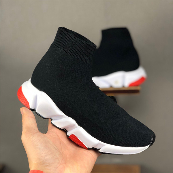 top popular Hot Kids Mesh Sock Sneakers High Top Girls Boys Toddler Little Big Kid Casual Fashion Trainers School Slip-On Shoes 2021