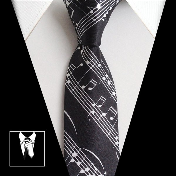 top popular Fashion Slim Tie Music Piano Student Neck Tie Ties Gifts for Men Butterfly Shirt Music Tie 2021