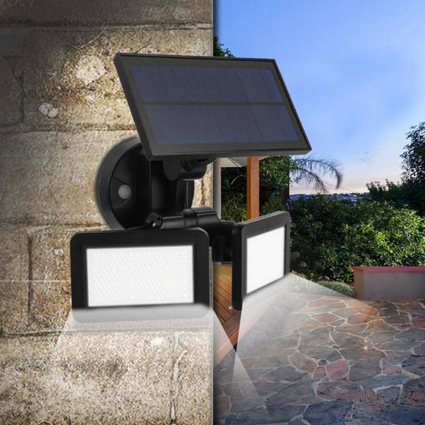 2019 новый солнечный датчик радиолокатора настенные светильники 360 градусов индукции стены освещения 48LED уличные фонари солнечные