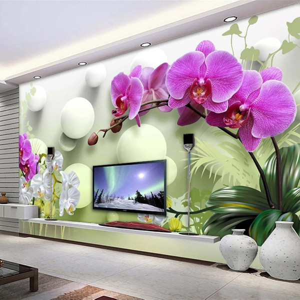custom p wallpaper 3d stereoscopic ball flower modern tv background decor interior bedroom living room sofa mural wall paper