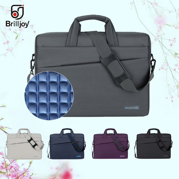 Brilljoy Waterproof briefcase Laptop Handbag for 13 14 15 17 Inch Computer Bussiness Travel Men and Women Notebook Messenger Bag #30627