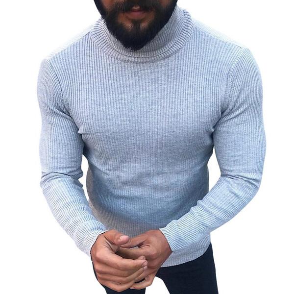 Vogue Moda Triko İçin Erkek Kazaklar Turtleneck Slim Fit Süveter Örgü Woole Kore Stil Gündelik Giyim Men Isınma