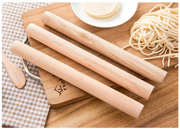 Natural Wooden Rolling Pin Rolling Pole Kitchen Tool Durable Non Stick Dough Roller High Quality free shipping