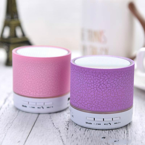 Makescc A9 LED Mini Wireless Bluetooth Speaker TF USB FM Portable Music Loudspeakers Hand-free call For iPhone 6 Phone PC with Mic