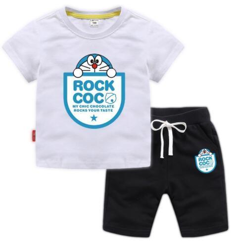 Neue stil kinder kleidung für jungen und mädchen sport anzug kinder baby jingle cat kurzarm + shorts set