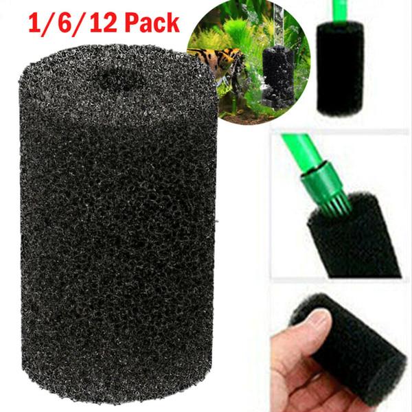1/6/12Pcs Aquarium Filter Protector Cover For Fish Tank Inlet Pond Black Reusable Washable Sponge Foam