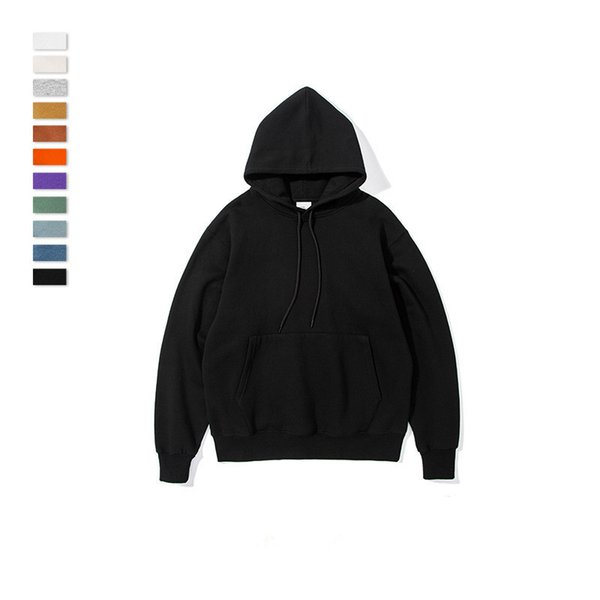 spring men casual solid color hoodies long seelve fashion hooded sweatshirt loose designer pullover hip hop print coats