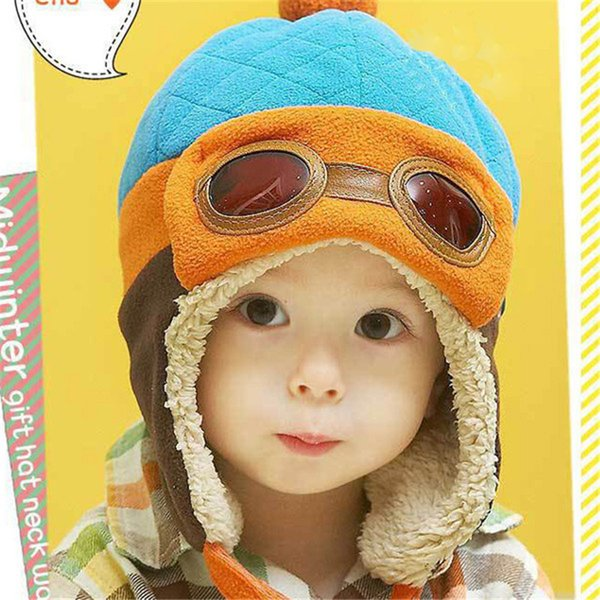 Toddlers Cool Baby Boy Girl Infant Winter Pilot Warm Cap Hat Beanie For Kids
