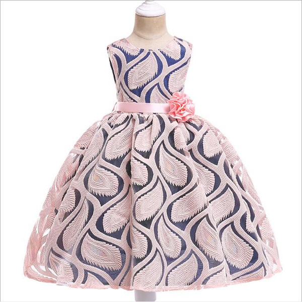 Compre Vestidos De Verano Para Niños De Encaje De Jacquard Armadura De La Manera Flor Fiesta De La Princesa Tutú De Los Niños Diseñador Del Vestido De