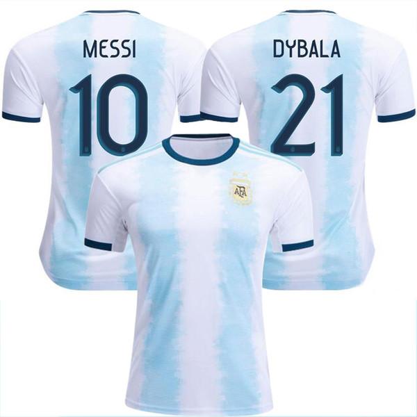 Venta al por mayor Nuevo Mundial de fútbol de Argentina Jersey 18/19/20 MESSI home DI MARIA AGUERO camisetas de fútbol de Argentina de calidad tailandesa 2019